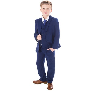Royal Blue 5 Piece Slim Fit Suit Baby Boys Wedding